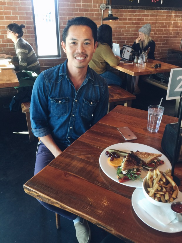 Brian Nguyen enjoys his lunch as we discuss his passion for Phoenix events.