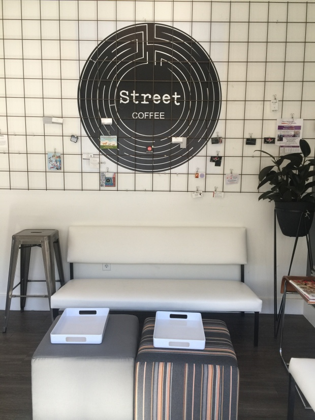 Street Coffee sitting area
